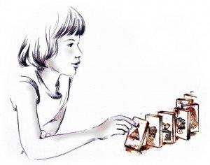 nena amb fitxes